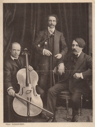 The Trio formed in 1905 by Alfred Cortot, Pablo Casals and Jacques Thibaud