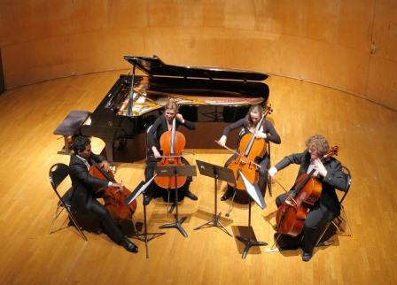 Cello Quartet during a concert for the Patrons of the Ecole © ENMP